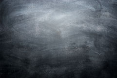 Dirty blackboard with chalk traces, black background Royalty Free Stock Photo
