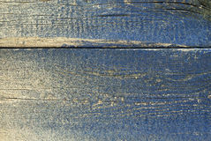 Dirty blue planks. Texture of rough wooden board with fading blue paint royalty free stock image