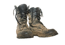 Dirty boots Royalty Free Stock Images