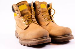 Dirty boots Royalty Free Stock Photo
