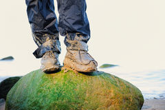 Dirty Boots Royalty Free Stock Photography