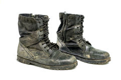 Dirty boots Stock Photography