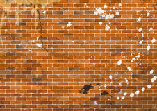 Dirty brick wall in the grunge style. vector illustration Stock Photos