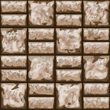 Dirty brick wall seamless pattern Stock Image