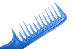 Dirty and broken hair comb isolated on white, macro Royalty Free Stock Photo