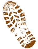 Dirty Brown ShoePrint detailed  Royalty Free Stock Photography