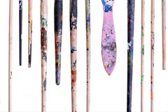 Dirty brushes Stock Image