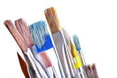 Dirty brushes Royalty Free Stock Image