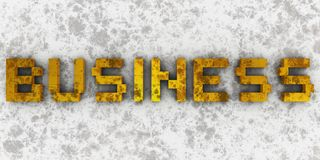 Dirty business. Golden dirty 3d letters Stock Photos