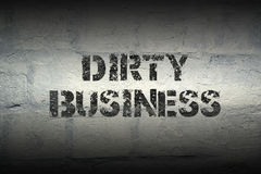 Dirty business GR Royalty Free Stock Image