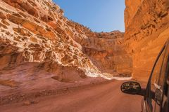 Dirty Canyon Road in Utah Royalty Free Stock Images
