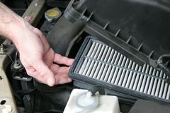 Dirty Car Air Filter Royalty Free Stock Image
