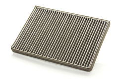 Dirty car air filter Royalty Free Stock Images