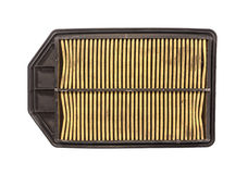 Dirty car air filter Stock Image