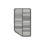 Dirty car air filter. On the white background. Vector illustration Stock Photos