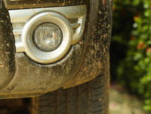 Dirty car bumper fog lamp Stock Images
