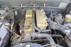 Dirty car engine room Stock Photos