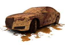 Dirty car over a splash Stock Images