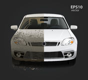 Dirty car wash service Royalty Free Stock Image