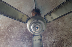 Dirty ceiling fan in the house Stock Photography