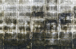 Dirty cement blocks wall Royalty Free Stock Images
