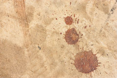 Dirty cement floor, blood stains Royalty Free Stock Photos