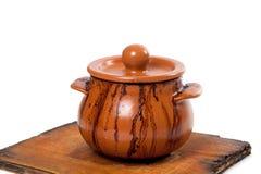 Dirty ceramic pot Stock Images