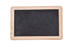 Dirty Chalkboard. Dirty Mini Chalkboard with over the white background Stock Photo