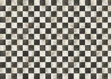 Dirty checkered background. Black and white square mosaic stock photo