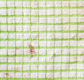 Dirty checkered fragment of cloth texture Royalty Free Stock Photo