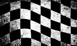 Dirty Chequered Flag. A dirty grunge fx chequered race flag royalty free illustration