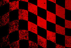 Dirty Chequered Flag. A dirty red and black grunge fx chequered race flag Royalty Free Stock Image