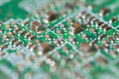 Dirty circuit in mainboard Royalty Free Stock Images