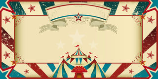 dirty circus invitation Royalty Free Stock Photo