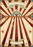 Dirty circus poster. A grunge vintage poster with a circus tent and a large copy space for your advertising Stock Photos