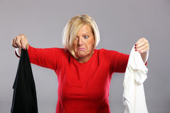 Dirty clothes Stock Images