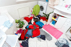 Dirty clothes ready for the wash Royalty Free Stock Photo