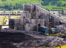 Dirty coal mine building fossil energy resource Royalty Free Stock Image