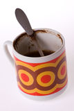 Dirty coffee cup Stock Photography