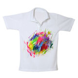 Dirty color on white polo shirt Royalty Free Stock Images
