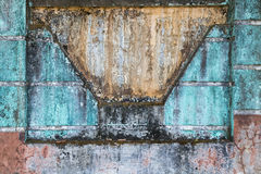 Dirty and colorful concrete wall Royalty Free Stock Photos