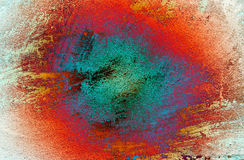 Dirty colorful grunge wall texture. Royalty Free Stock Photo
