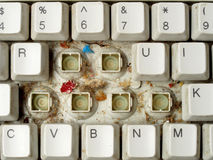 Dirty computer keyboard Royalty Free Stock Photo
