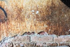 Dirty concrete wall with big crack Royalty Free Stock Photo