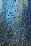 Dirty concrete wall with  blue paint Royalty Free Stock Photography