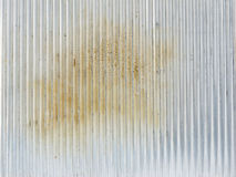 Dirty corrugated zinc sheet Royalty Free Stock Photos