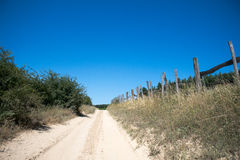 Dirty country road Royalty Free Stock Image