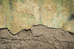 Dirty cracked concrete old wall Royalty Free Stock Images
