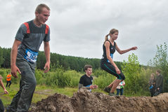 Dirty cross-country race stage. Tyumen. Russia Royalty Free Stock Photo