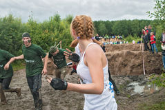 Dirty cross-country race stage. Tyumen. Russia Royalty Free Stock Image